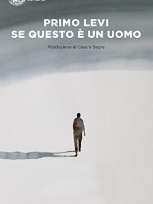 """copertina """"Se questo è un uomo"""", di Primo Levi"""